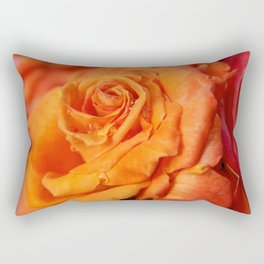 Tangerine Rose Rectangular Pillow