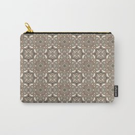 Ornamental Scroll Pattern Earthen Trail, Melon Green, Dover White & Ever Classic Gray Carry-All Pouch