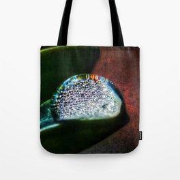 Rainbow Water Droplet Tote Bag