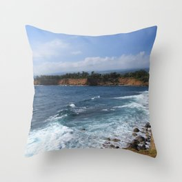 Kohala Coast Throw Pillow
