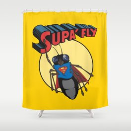 supa'fly Shower Curtain