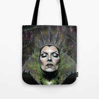 queen Tote Bags featuring My Queen by Wendy Ortiz