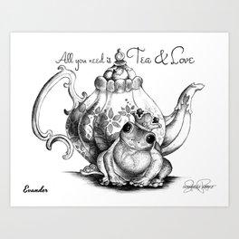 EVANDER Frog Prince Print Art Print