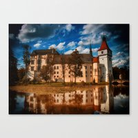 castle in the sky Canvas Prints featuring Castle by DistinctyDesign