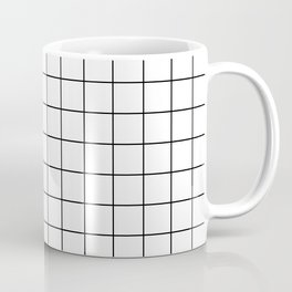 White Grid Coffee Mug