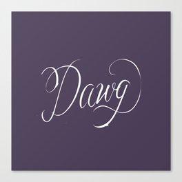 Dawg (Hip Hop Calligraphy II) Canvas Print