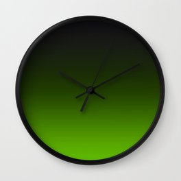 Ombre Lemon Green Wall Clock