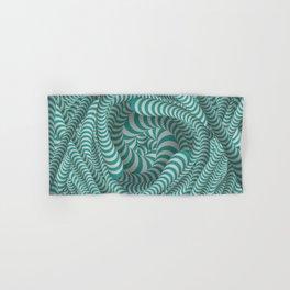 Mint green stripe illusion design Hand & Bath Towel