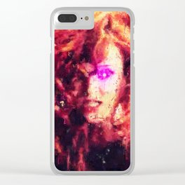 Hair as Red as Fire Clear iPhone Case