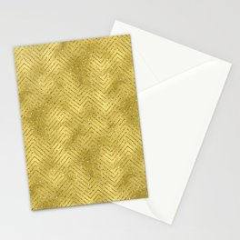 Gold ,Glitter and Chevrons Stationery Cards