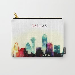 Dallas Texas City Skyline watercolor poster Carry-All Pouch