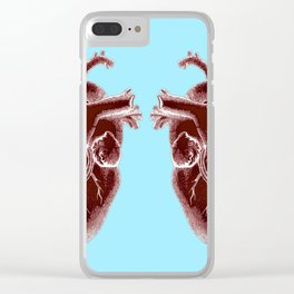 two hearts beat as one Clear iPhone Case