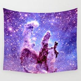 Galaxy Nebula : Pillars of creation Wall Tapestry