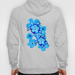 Tropical Hibiscus Flowers And Honu Turtles Hoody