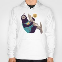 sloth Hoodies featuring sloth by Louis Roskosch