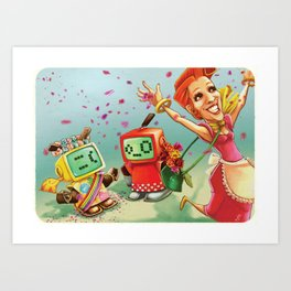 Cheer up Sadface! Art Print
