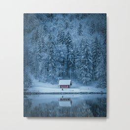 Winter trees - Moody version Metal Print
