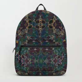 Gem Stone- Stained Glass Filigree  Backpack