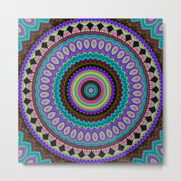 the dreamer Mandala Metal Print