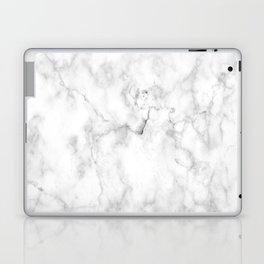 White marble decor Laptop & iPad Skin