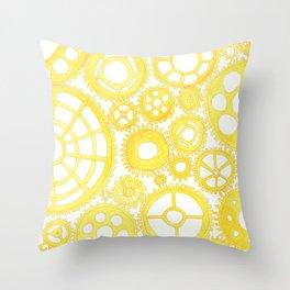 #46. FEIFEI - Gears Throw Pillow