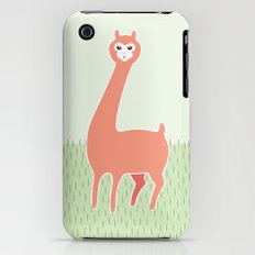 Green Meadows and a Peach Alpaca iPhone (3g, 3gs) Slim Case