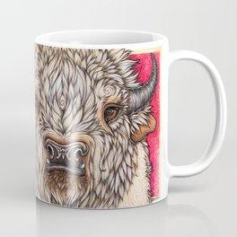 White Buffalo Calf Coffee Mug