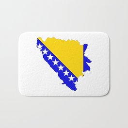 bosnia herzegovina flag map Bath Mat