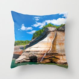 Bridal Veil Falls: Upper Peninsula of Michigan Throw Pillow