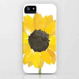 Watercolor Sunflower iPhone Case