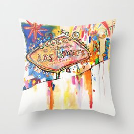 Las Angeles  Throw Pillow
