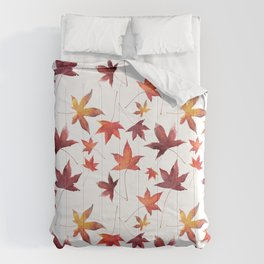 Dead Leaves over White Comforters