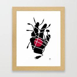 Japanese Culture Shock Framed Art Print