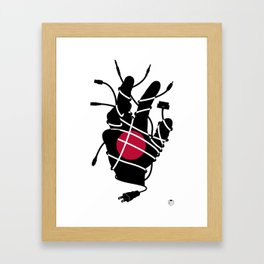 Japanese Culture Shock Framed Art Print