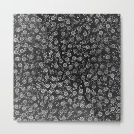 White Washed Flowers Metal Print