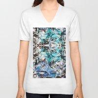 metallic V-neck T-shirts featuring Metallic by Lara Gurney