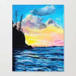 Short Sands Sunset Canvas Print