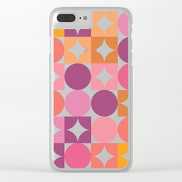 Mid Century Shimmering Sunset Clear iPhone Case