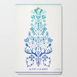 La Vie & La Mort – Blue Ombré Cutting Board