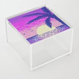 Pixel Sunset Acrylic Box