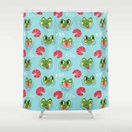 Have a froggy day! Shower Curtain