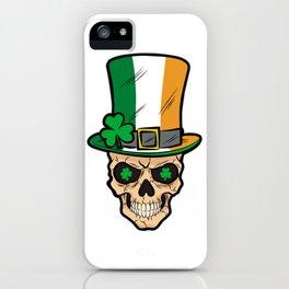 Irish Skull Irland Patriot Shamrock iPhone Case