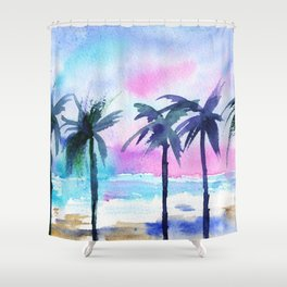 Summer vibes #3 || watercolor Shower Curtain