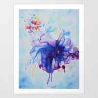 fairy tale Art Prints featuring Fairy Tale by Maria Lozano - Art