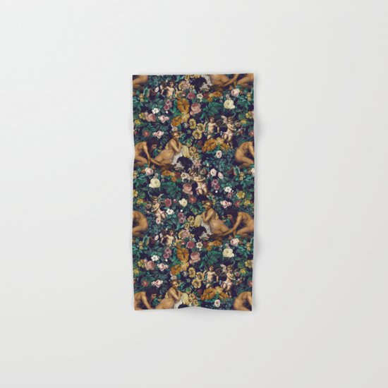 Young Greeks and Floral Pattern Hand & Bath Towel