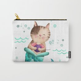 Purrmaid Illustration Carry-All Pouch