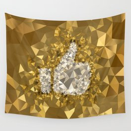POLYNOID Like / Gold Edition Wall Tapestry