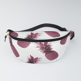 Pineapple Pattern - Tropical Pattern - Summer- Pineapple Wall Art - Purple, White - Minimal Fanny Pack