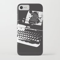 hemingway iPhone & iPod Cases featuring Ernest Hemingway Quote by People Matter Creative