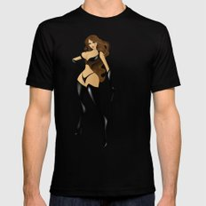 Claudia Mens Fitted Tee LARGE Black
